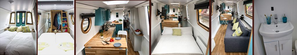 Interiors for Blue Otter Wootton Wawen 60ft narrowboat